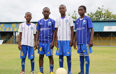 Christopher-Katongo-(second-left)-and-Oscar-Mulenga-(second-right)-alongside-age-group-teammates-at-Nchanga-Stadium